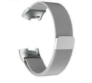 Strap For Fitbit Charge 3 4 Steel Watch Band Milanese Loop SMALL / LARGE