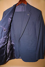 Ted Baker Jay Two Button Blue Suit Size 42 L RETAIL $795 Beautiful fabric!!!