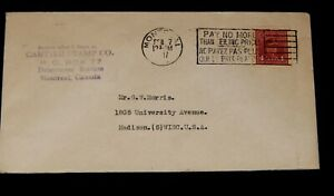 Vintage Cover,CANADA POSTAL HISTORY, 1947, Montreal,QB, King George VI War Issue