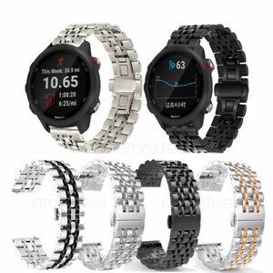 Metal Stainless Steel Watch Strap for Garmin Forerunner 645 245M / vivoactive 3