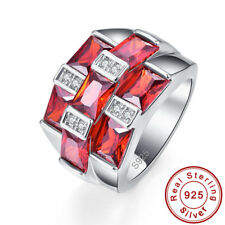 Noble Jewelry Gift Morganite Garnet 100% 925 Sterling Silver Ring Sz L½ N½ P½ R½