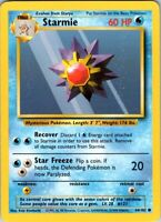 1999 Vintage Basic Pokemon Starmie Common 60 HP Single Card 64/102 Water #121