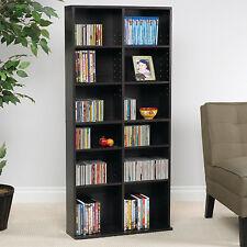 Media Storage Cabinet Shelving Unit Shelf Display Organizer CD DVD Blu Ray  Stand