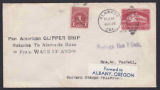 1935 Pan Am Clipper Cover From Wake Isand to Alameda Postage Due