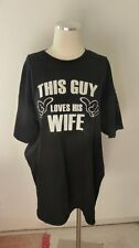 This Guy Loves His Wife Mens Black Cotton Shirt Marriage Wedding Anniversary XL