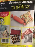Simplicity 1044 Pillows Easy To Sew Beginner Designs Couch Neck Style New Uncut