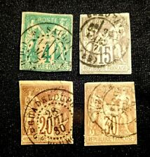 French Colonies Stamp Set Scott 25-26, 33-34 Mint Hinged