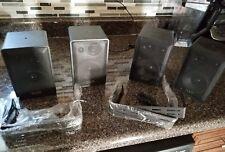 KLH 970A  Indoor/Outdoor Satellite Series Speakers 2 PAIR (4) MULTI PURPOSE