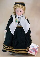 "Heritage Mint American Dreams Music Box Porcelain Doll 16"" Ellis Island 2002"