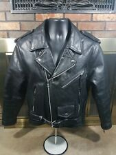 Eagle Leather Motorcycle Biker Harley Riding Jacket Jacket Black Men's Sz Medium