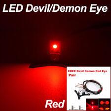 2pcs CREE puces DEL Rouge Diable Yeux Lumière Anneau Projecteur Lentille Phares Retrofit
