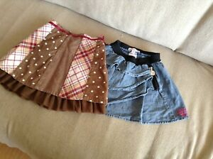 2 GIRL'S SKIRTS - SIZE 5 - CARTER'S & MISS MANGO - EXCELLENT CONDITION