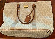 Michael Kors Jet Set Travel XL Bag- Vanilla leather monogram