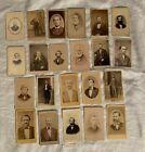 Victorian Men Beards Lot 22 Cdv's Carte de Visite Cabinet Cards Photos Photo OLD