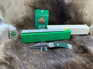 1978 Puma 23 0465 Back Packer With Green Checkered Handles Mint In Box + Tag