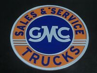 "Vintage GMC Advertisement Sign 9"" Gas and Oil Collectible Wall Hanging 3D"