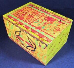 """Needlecraft Supplies  Hand-Painted Treasure Box/""""Eliza Hoch, Anna 1821""""-ZW13"""