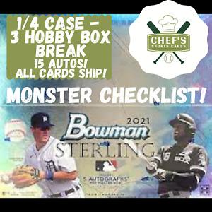 ATLANTA BRAVES - 2021 BOWMAN STERLING 3 HOBBY BOX (1/4 CASE) BREAK #2