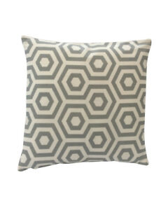 """16""""  Dove Grey and white Geometric scatter cushion covers pillow sham made in UK"""