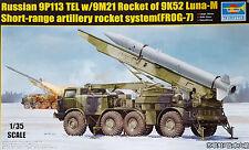 TRUMPETER® 01025 Russian 9P113 Tel W/9M21 Rakete auf FROG-7 (NVA Decals) in 1:35