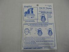 Humphrey Paulin Clip on Mantle 5 pack for gas light New