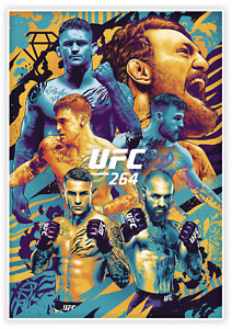 UFC-264 POIRIER vs MCGREGOR 3 PANINI INSTANT CARD NO AS264 ARTIST SERIES POSTERS