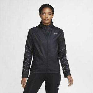 NIKE ESSENTIAL Women's FLASH REPEL HOODED RUNNING JACKET (CU3353 010)BLACK