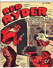 "Red Ryder No 45-1950's - Australian - ""Gun Drawn At Door Cover!  """