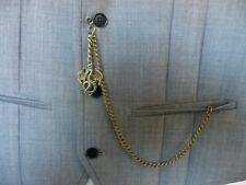 Single albert bronze plated dragon  pocket watch chain fob t bar standard