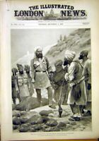 Original Old Antique Print Indian Frontier Khyber Datta Khel Tochi River 1897