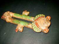 Vintage Clay Double Flute w/ Tribal Mayan Aztec Gods - Mexican Pottery Folk Art