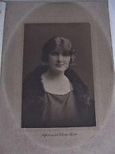 1920's Wykeham Studio Sepia Photo Lady Flapper