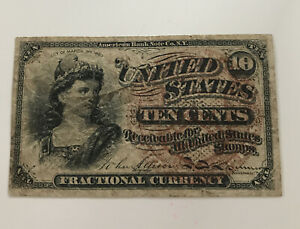 1863 Fractional Currency Ten Cents 10c American Bank Note Co. NY Ungraded
