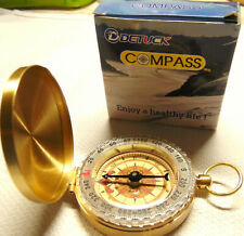 New in Box DETUCK Pocket Compass Sports & Outdoors Gold/Brass Color