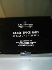 New listing 21-Count 3.4 oz Spice Jars with Lids Value Pack. Airtight Glass Bottles for