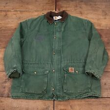 "Mens Vintage Carhartt Quilt Lined Workwear Chore Jacket Green XXL 52"" R5232"