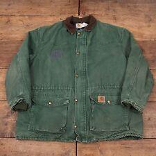 """Vintage pour homme carhartt quilt doublé workwear chore jacket vert xxl 52"""" R5232"""