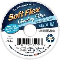 "Soft Flex Wire 49-Strand .019""X10' Silver 639336072223"