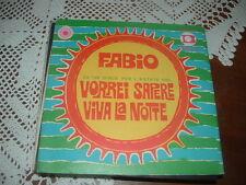 """FABIO """" VORREI SAPERE (DISCO ESTATE'68)- VIVA LA NOTTE """" ITALY COVER DIFFERENTE"""
