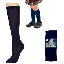 Knee High Socks School Girl Uniform Soccer Sport Women Girls Blue Size 9-11 6-8