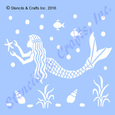MERMAID STENCIL FISH STARFISH SHELLS NAUTICAL TEMPLATE OCEAN PAINT CRAFT SEA NEW