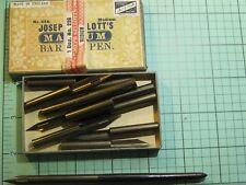 vintage Joseph Gillott Box fo 12 nibs and dip pen holder No. 226 Medium