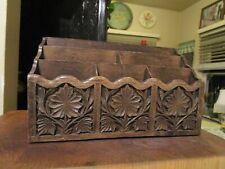 Vintage Lerner Mail Letter Organizer Faux Wood Desk Caddy Mid Century Modern