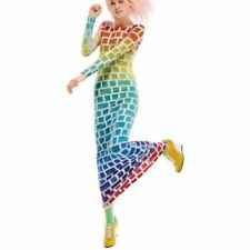 Vestito Donna Jeremy Scott X Adidas Arcobaleno Taglia M Keyboard Rainbow New