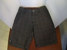 Micros Gray Checkered Shorts Boy Size 5 with Adjustable Waist (Nordstroms)