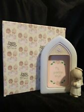 "*Vintage* Precious Moments ""My Guardian Angel"" frame with boy angel E-7168"