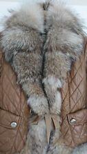 BENEDETTA NOVI Real fur Coyote Jacket Brown IT 46 or UK 14 rrp $1,600