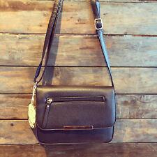 Womens Black Zip Cross Body Faux Leather Moda Bag & Free River Island Gift