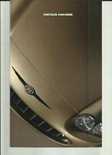 CHRYSLER CONCORDE (USA MARKET) CAR SALES BROCHURE FOR THE 1998 MODEL YEAR