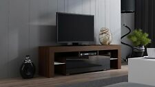 Milano 160 Walnut Modern TV Stand for Living Room Screens Entertainment Center